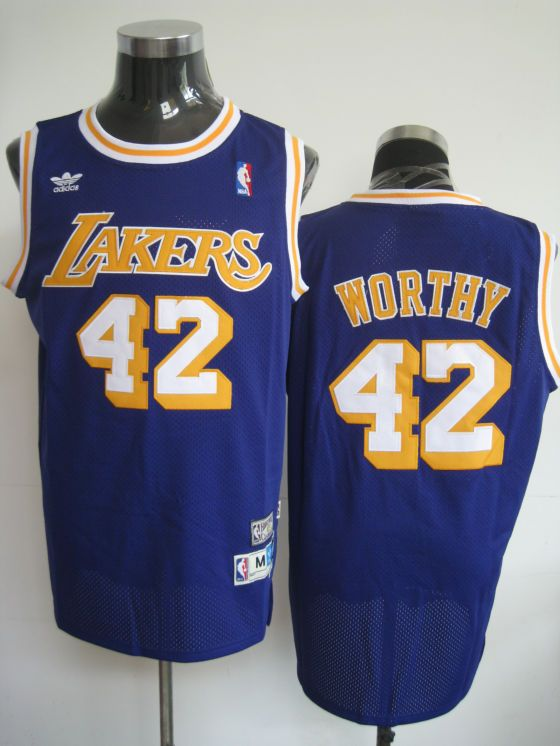 825838bfb ... purchase adidas nba los angeles lakers 42 james worthy swingman purple  throwback jersey 29925 675fb
