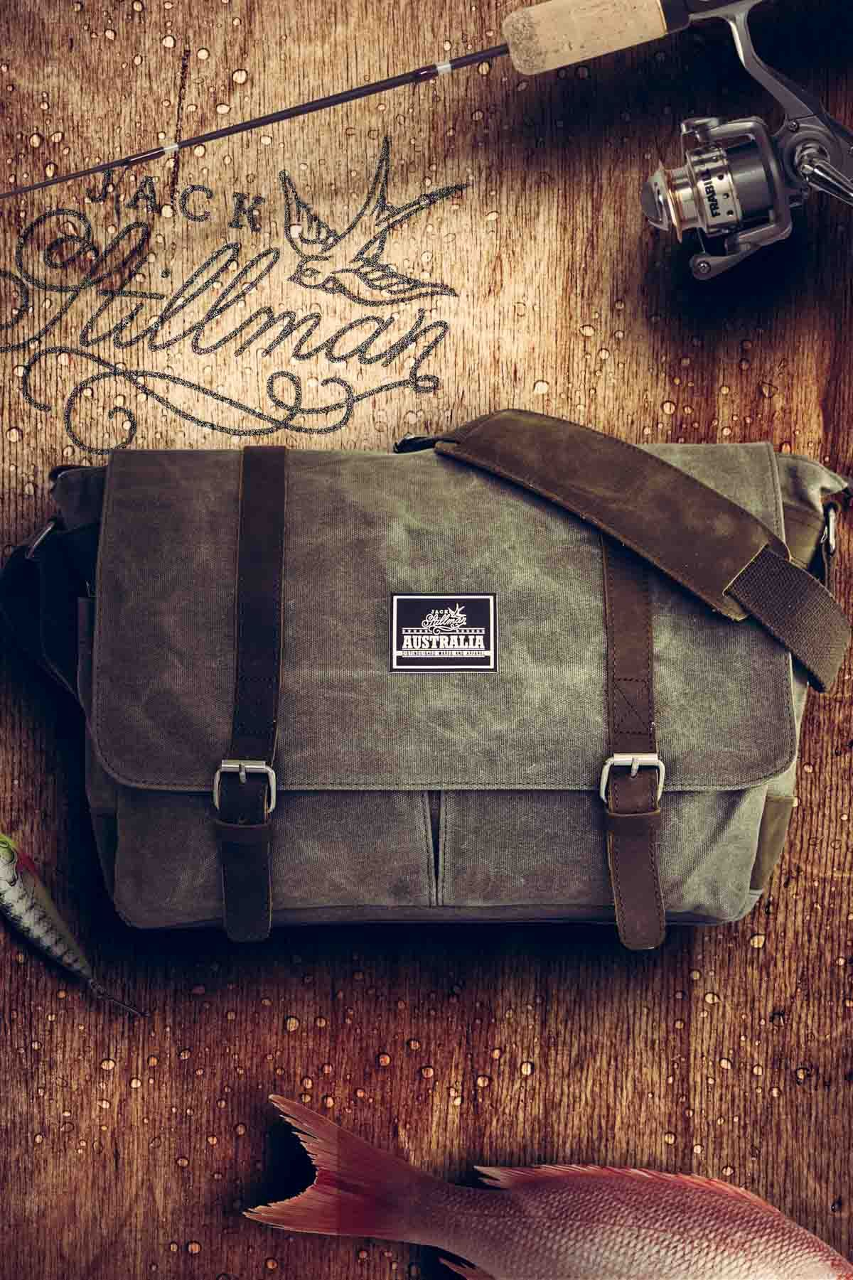 40d6d46b6e Commodore Waxed Canvas Messenger. A very stylish and rugged bag for men.  Water resistant waxed canvas with real leather trim.