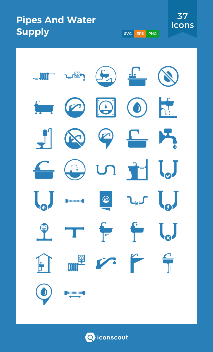 Download Pipes And Water Supply Icon Pack Available In Svg Png Eps Ai Icon Fonts Icon Pack Icon Font Icon