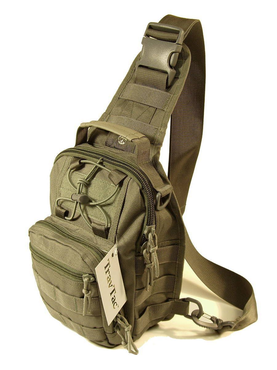 TravTac Stage I Sling Bag, Premium Small EDC Tactical Sling Pack ...