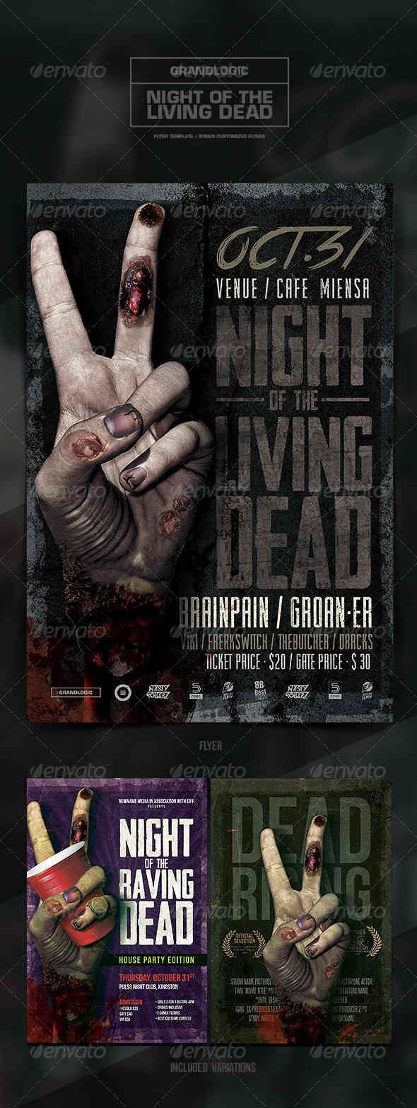 Zombie Hand FlyerPoster  Hashtag