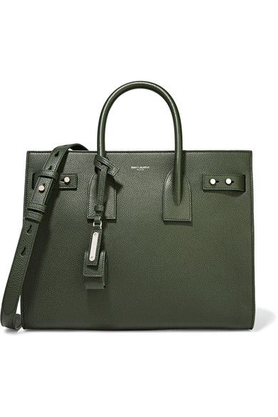 6635e49520c6 Saint Laurent - Sac De Jour Small Textured-leather Tote - Dark green ...