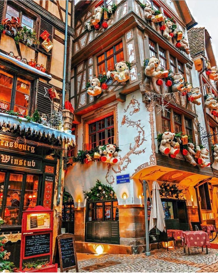 Strasbourg France Christmas Time.Strasbourg France Picture By