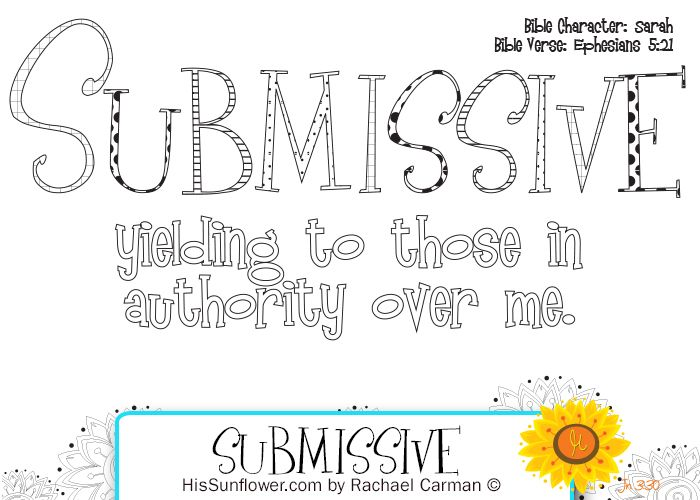 Character Quality Submissive Download Your Free Coloring Page