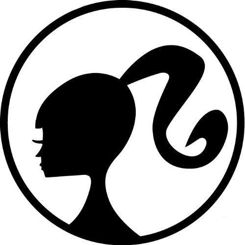 barbie head logo mattel vinyl decal sticker 5 white amazon rh pinterest com barbie head logo pink barbie head logo tumblr