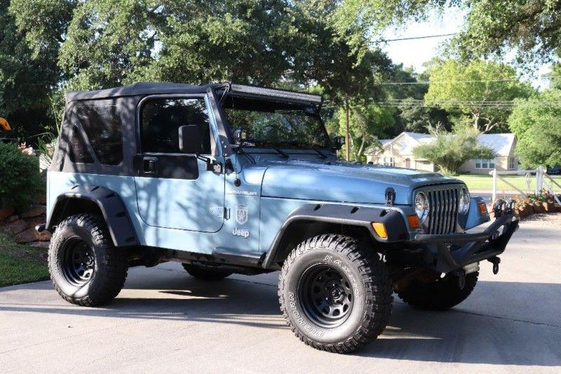 1998 Gunmetal Blue Jeep Wrangler 8995 Blue Jeep Jeep Blue