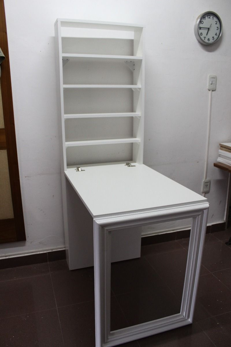 escritorio mesa plegable pared con espacio de guardado | escritorios ...