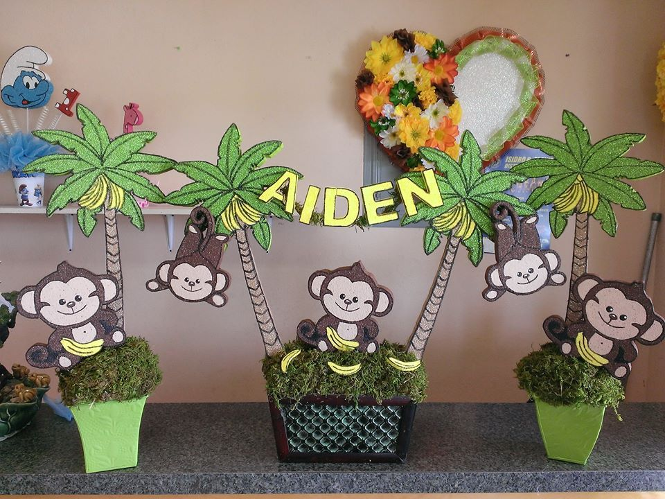 Monkey Baby Shower Centerpiece