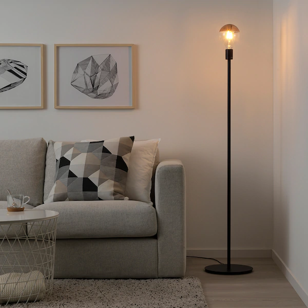 SKAFTET Golvlampfot, svart IKEA | Golvlampa, Ikea, Lampskärm