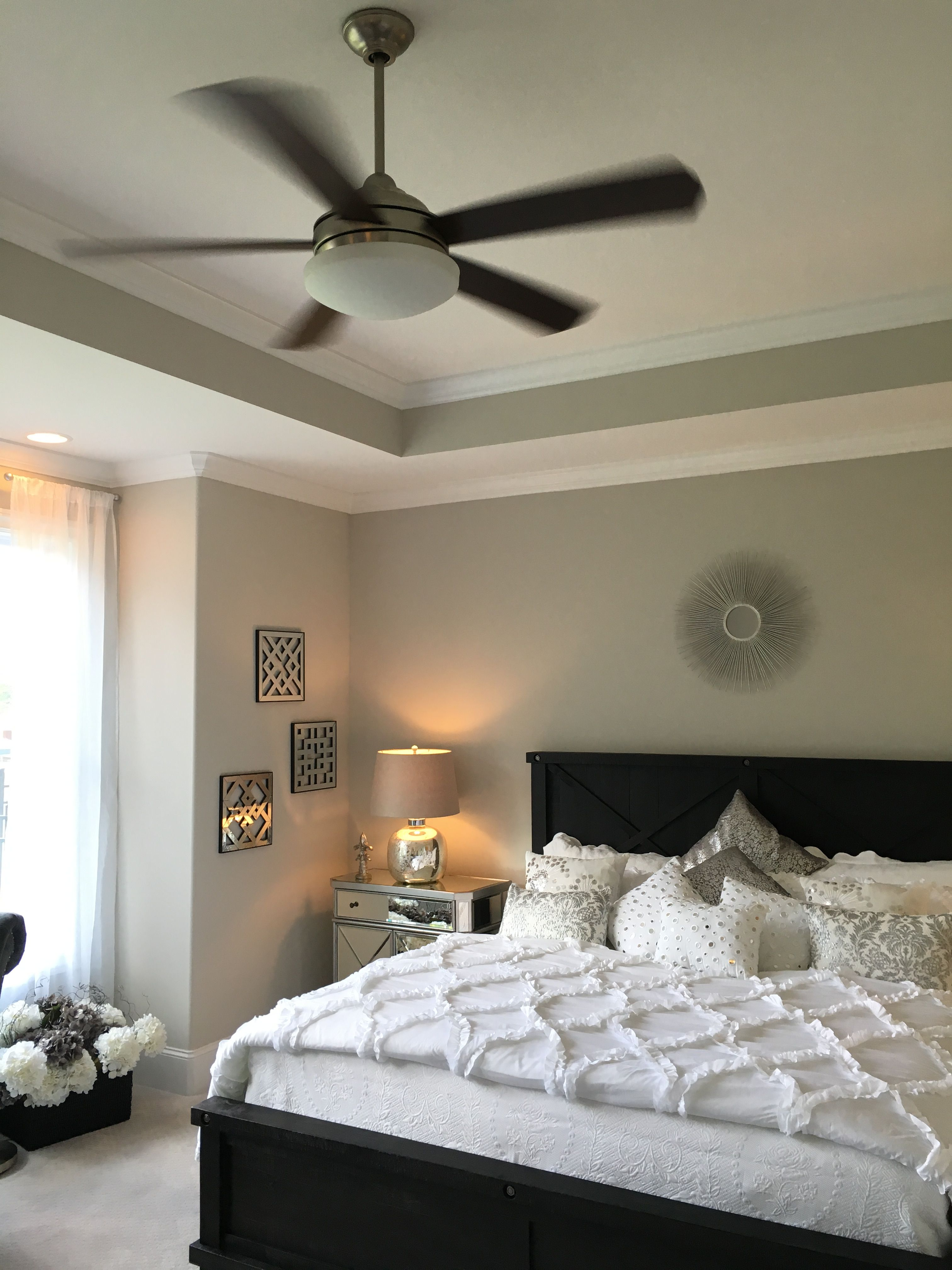 Large Master bedroom with box bay window, trey ceiling,upgrade ceiling fan,  Agreeable