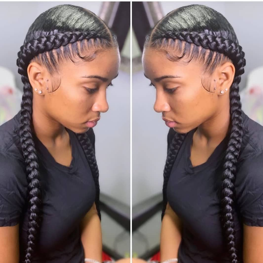 20 Hottest Hair Color Trends For Women Pouted Com Braided Hairstyles Black Women Hairstyles Two Braids Hairstyle Black Women