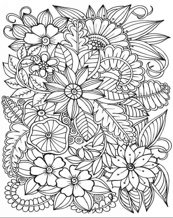 Pin de Theresia Peart en flower designs | Pinterest | Colorear ...