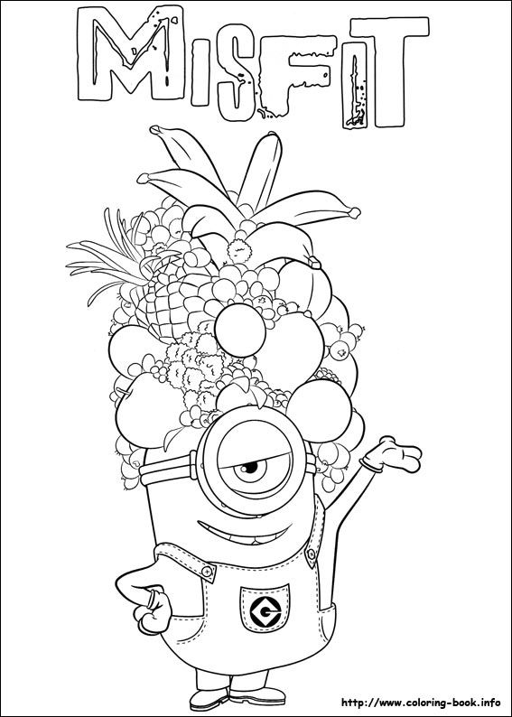Minions Coloring Picture