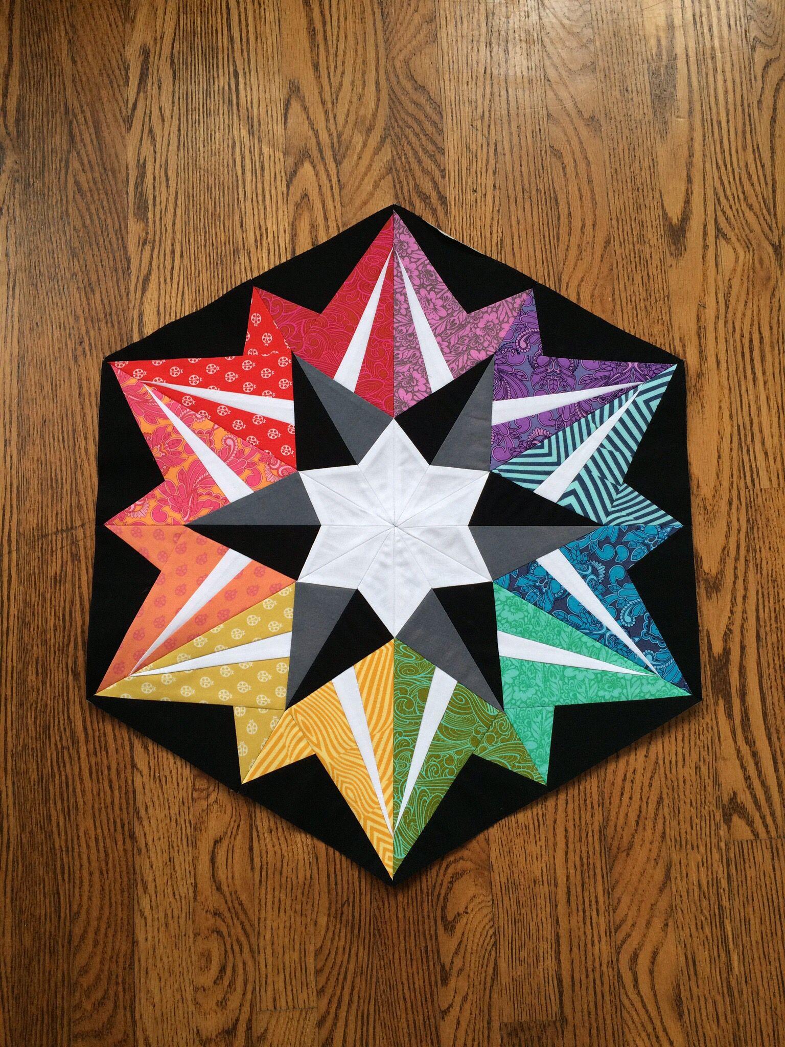 Block 7 constellation | Arcadia Avenue quilt blocks | Pinterest ...