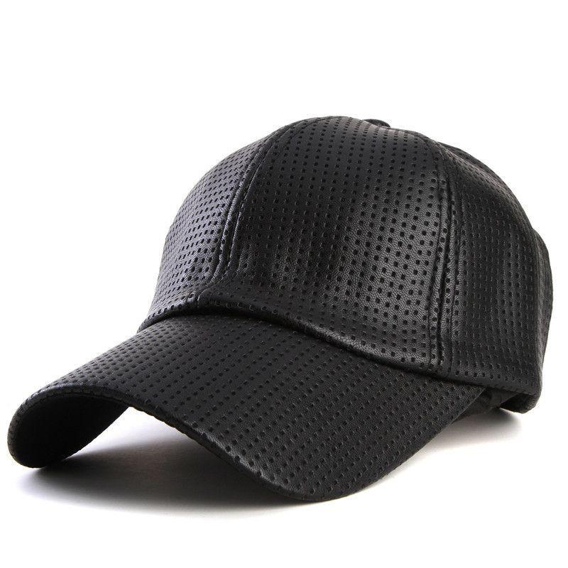 43e7591d45dcb Xthree fashion Baseball Cap women fall faux Leather cap hip hop snapback  Hats For men winter hat for women