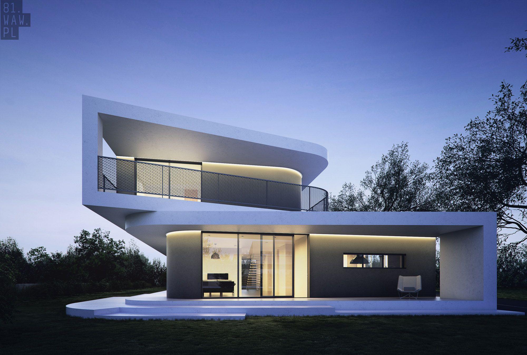 Dom trapez projektu pln design polish for Casa moderna arquitectura
