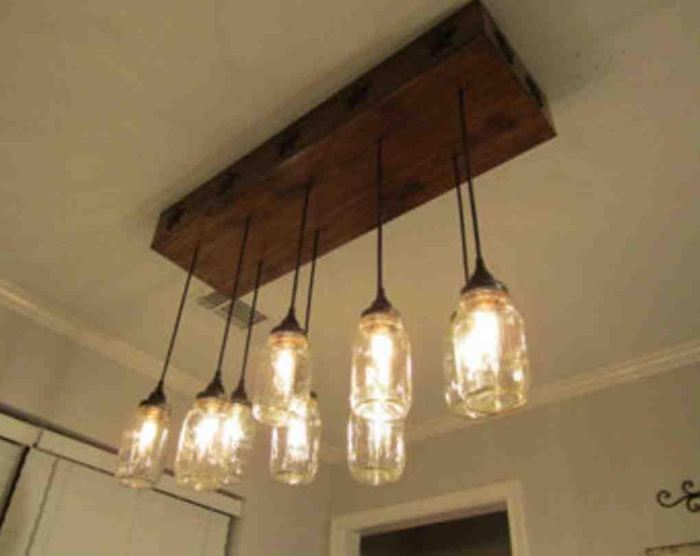 Dining Room Chandeliers Lowes Rustic Light Fixtures Jar Ceiling Light Farmhouse Kitchen Light Fixtures