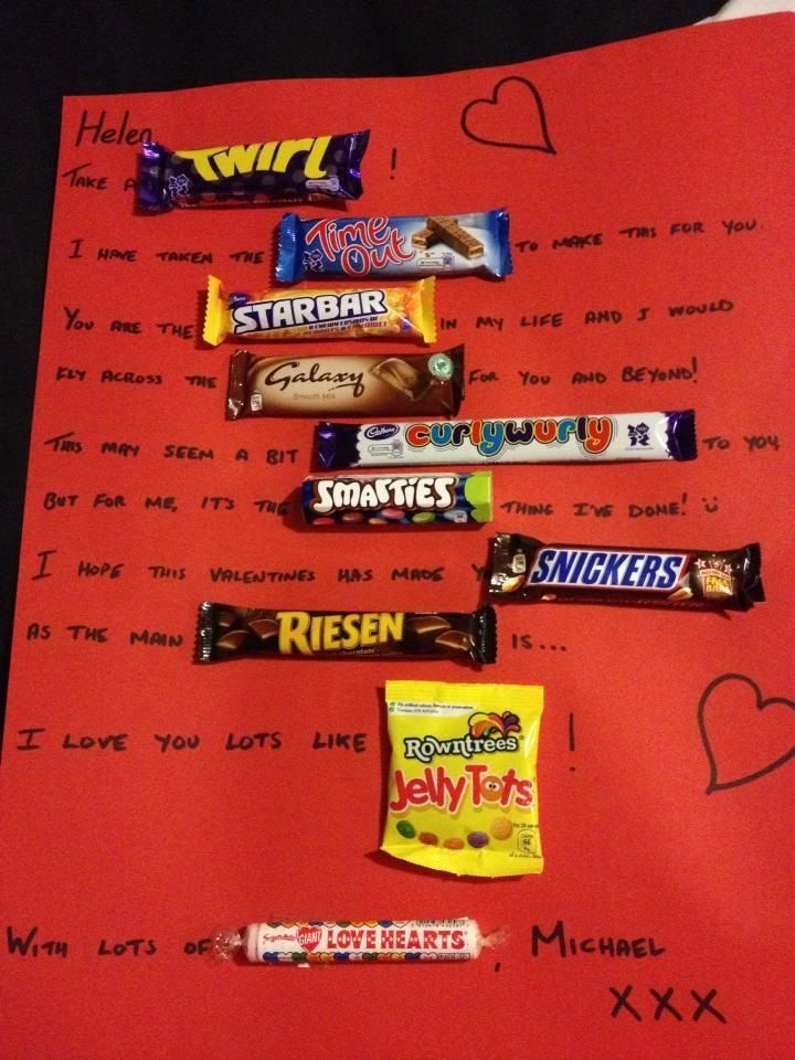 UK Candy Gram Perfect For Valentines Day! Creativity