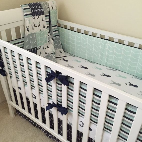 Deer Crib Bedding Boy Crib Bedding Woodland Baby Bedding Etsy