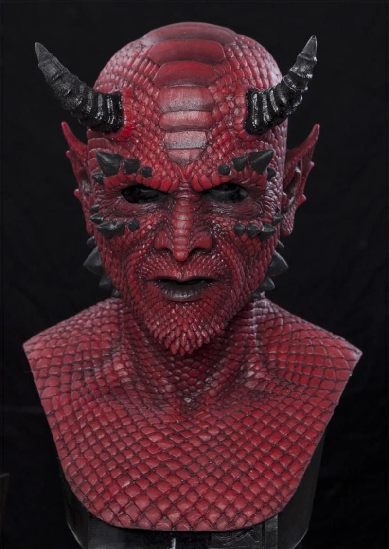 BELIAL THE DEMON (RED) Silicone Halloween Mask Halloween