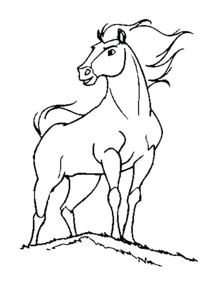 Mustang Horse Coloring Pages From 100 Horse Coloring Pages