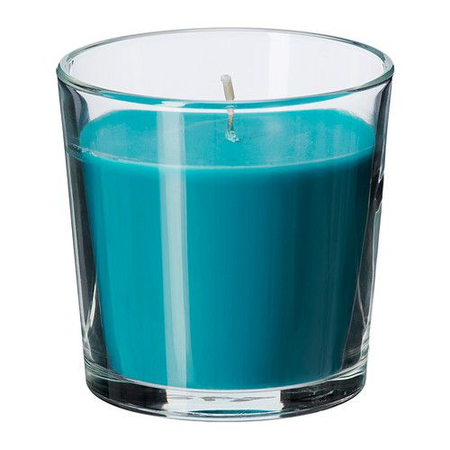 ikea sinnlig scented candle in glass creates atmosphere with a pleasant scent of beach. Black Bedroom Furniture Sets. Home Design Ideas
