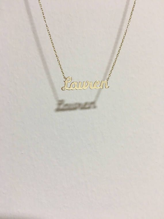 Gold name necklace 14k gold Wedding jewelry gold necklace Custom