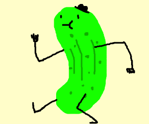 Walking Pickle Food Coloring Pages Clip Art Pickles