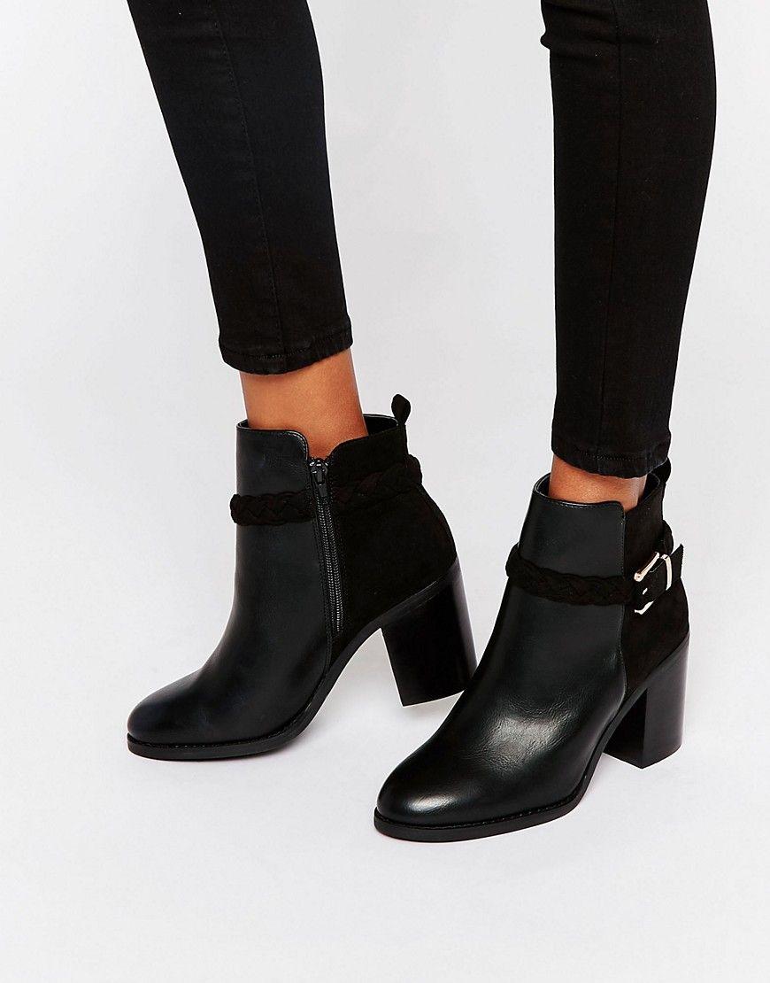 miss kg swift ankle boots mit absatz und schnalle. Black Bedroom Furniture Sets. Home Design Ideas