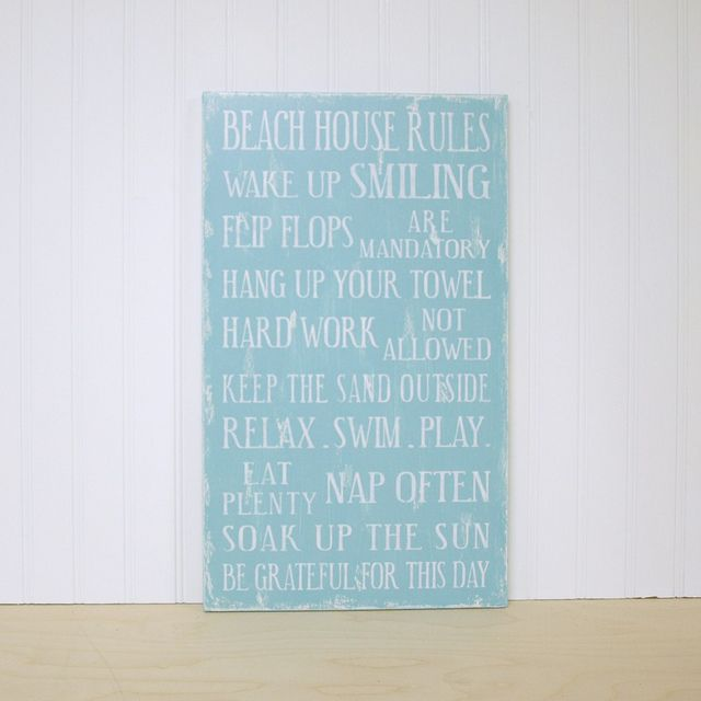 Beach House Rules Sign by Signs of Vintage, via Flickr