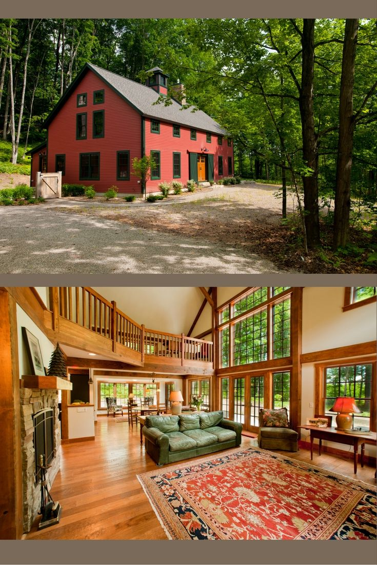 the sawyer farmhouse is a true post and beam barn style home visit to see more including floor plans not a fan of the outside but love love love the