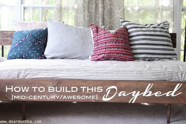 Diy Inspiration Daybeds: DIY MID-CENTURY DAYBED TUTORIAL