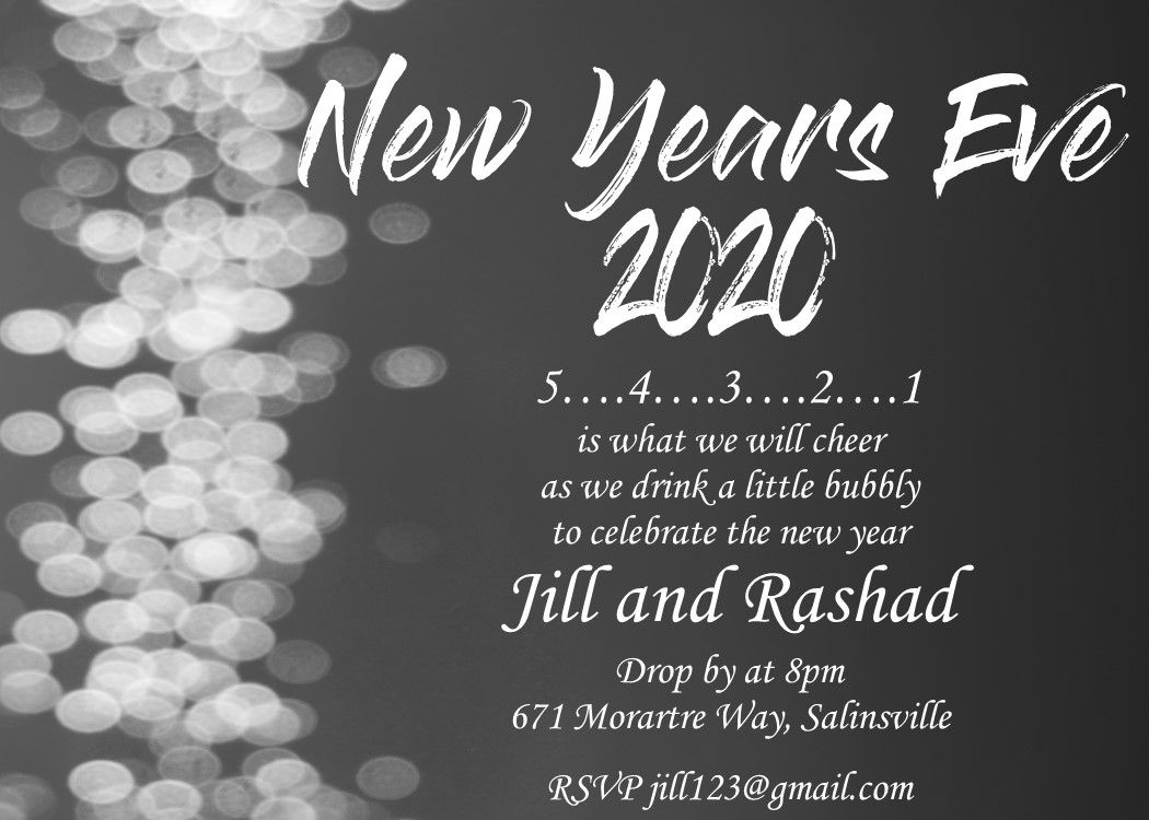 New Year S Eve Party Invitations 2020 in 2020 New years
