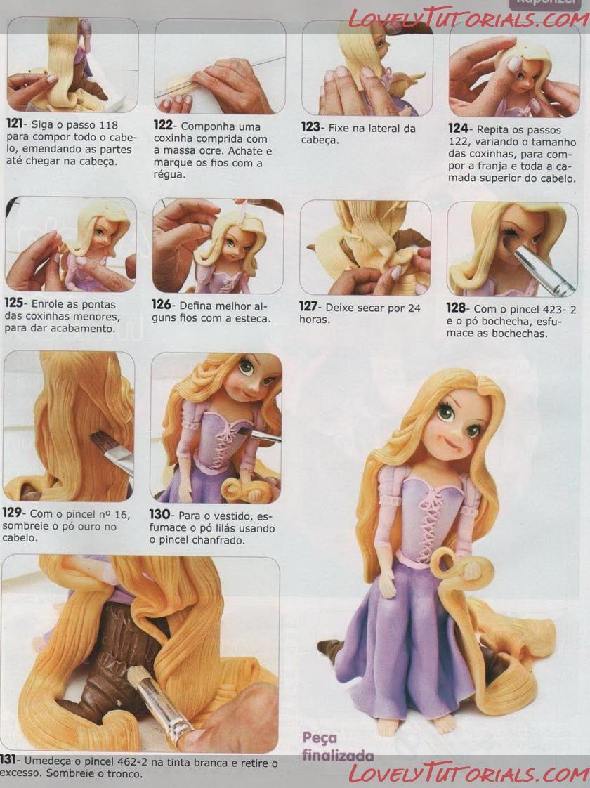МК как слепить волосы/парик для куклы -How to Make a Doll Wig / Doll Hair - Page 5 - Мастер ...