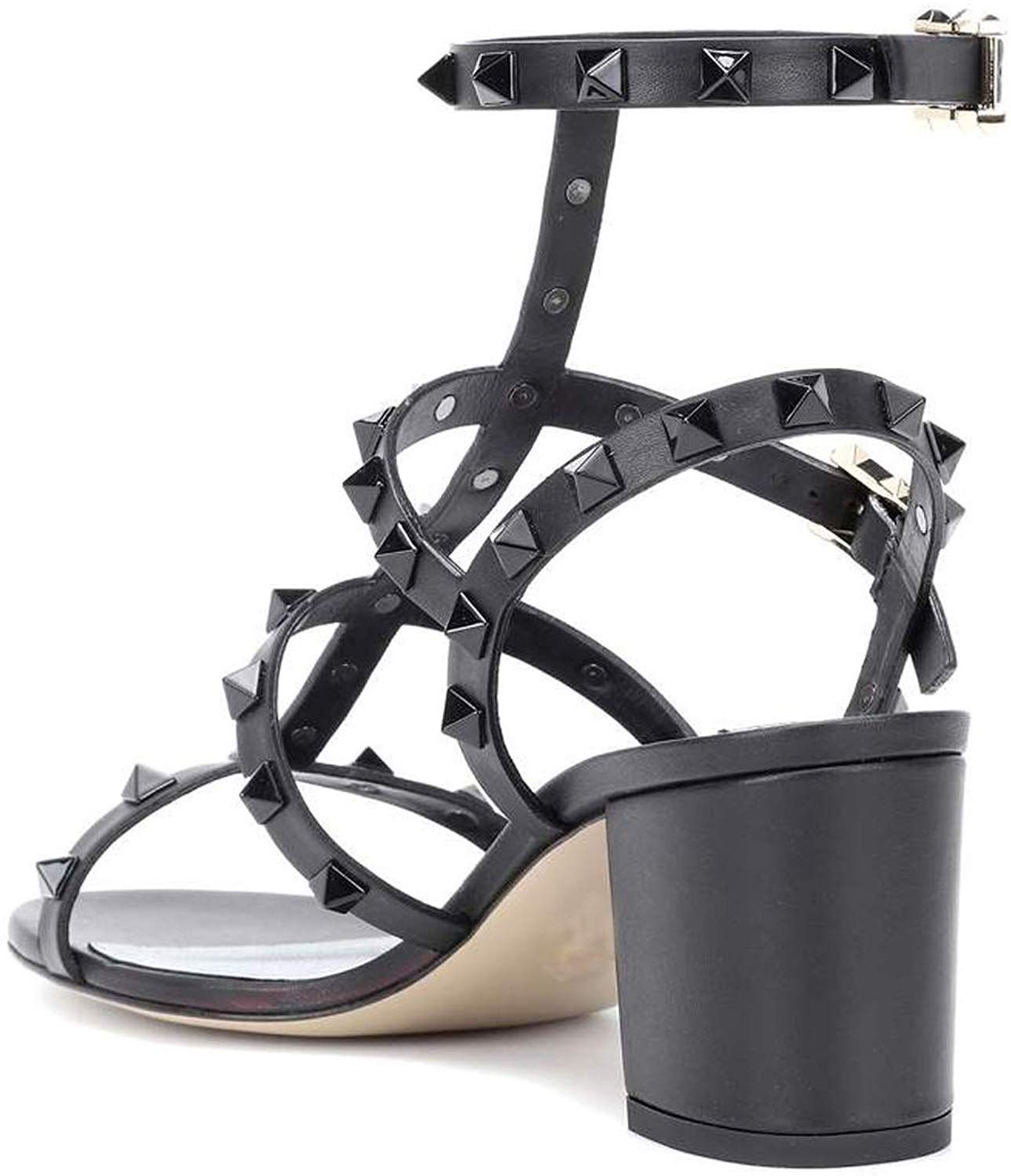 84dd1ea91 Amazon.com | Comfity Sandals for Women, Rivets Studded Strappy Block Heels  Slingback Gladiator Shoes Cut Out Dress Sandals | Shoes
