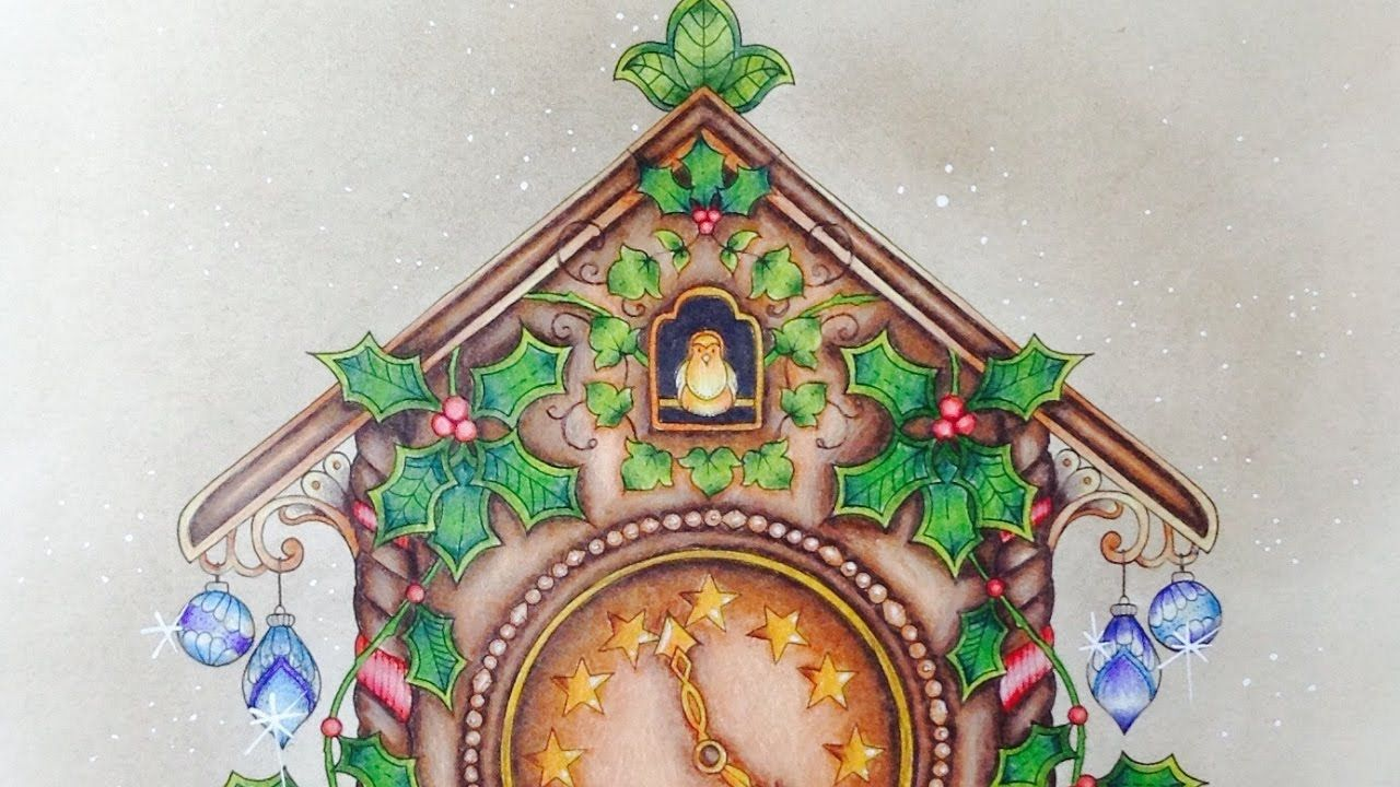 Johannas Christmas Coloring Tutorial With Prismacolor Pencils Part 2 You Johanna Basford Coloring Book Christmas Coloring Books Johanna Basford Christmas