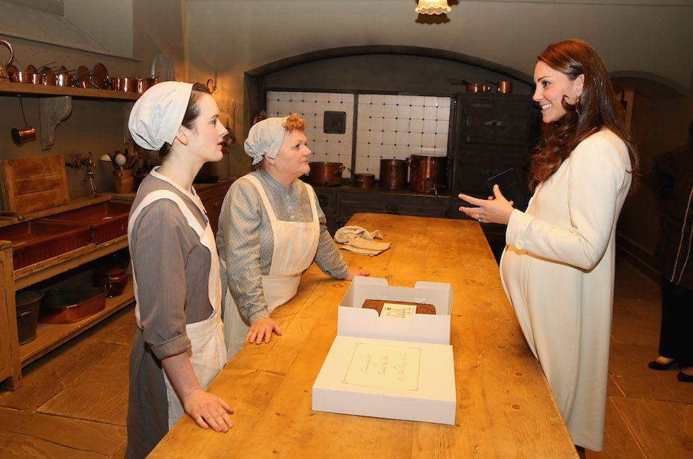 Downton Abbey - Kate Middleton, Sophie McShera and Lesley Nicol (Chris Jackson - WPA Pool/Getty Images)