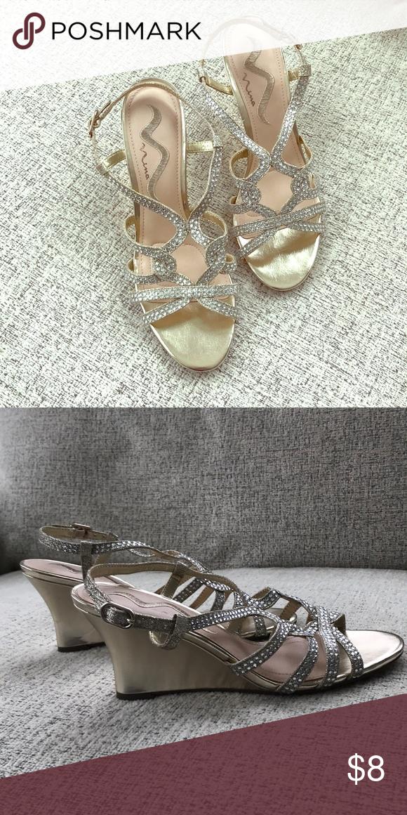 07274467c Nina Fynlee crystal embellished wedge heels Crystal embellished heels. Nina  fynlee Nina Shoes Wedges