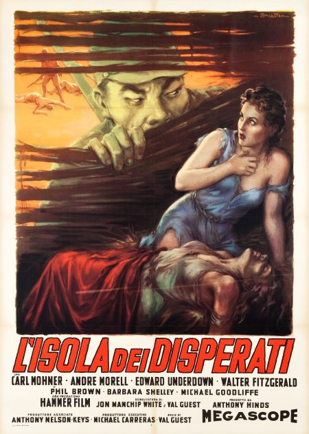 "Movie Posters:War, The Camp on Blood Island (Columbia, 1958). Italian 2 - Foglio(39.25"" X 55.25"").. ... Image #1"
