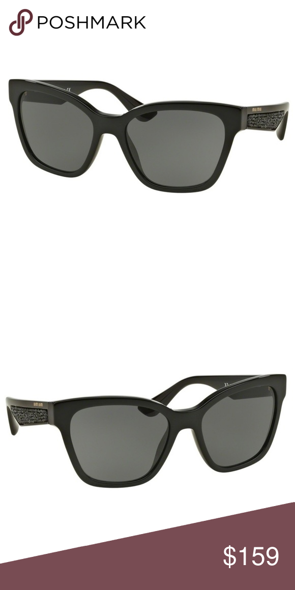 fb4df56e1 Miu Miu Sunglasses Black w/Grey Lens Buy with confidence from an  established dealer since