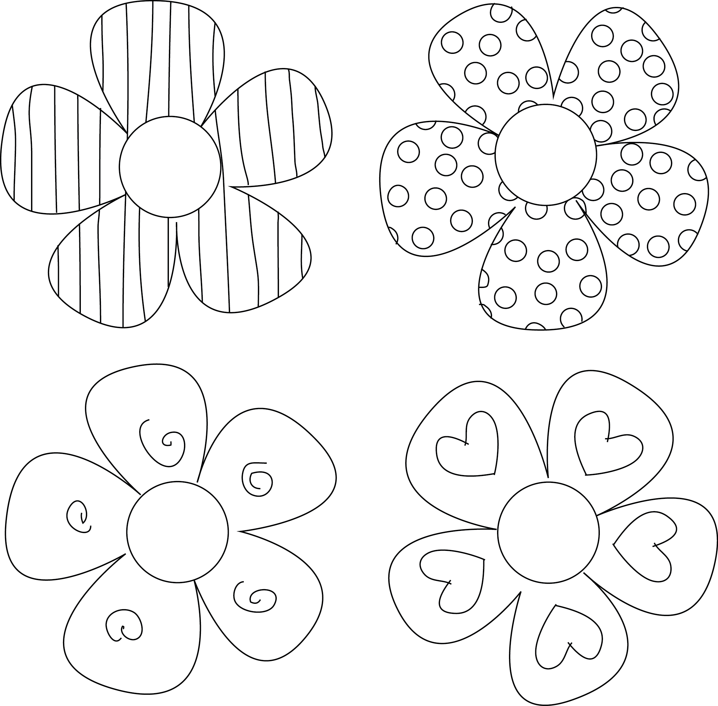 photograph about Flower Stencil Printable identified as Do-it-yourself Flower Tutorials By yourself Should Attempt Painted Pottery Flower