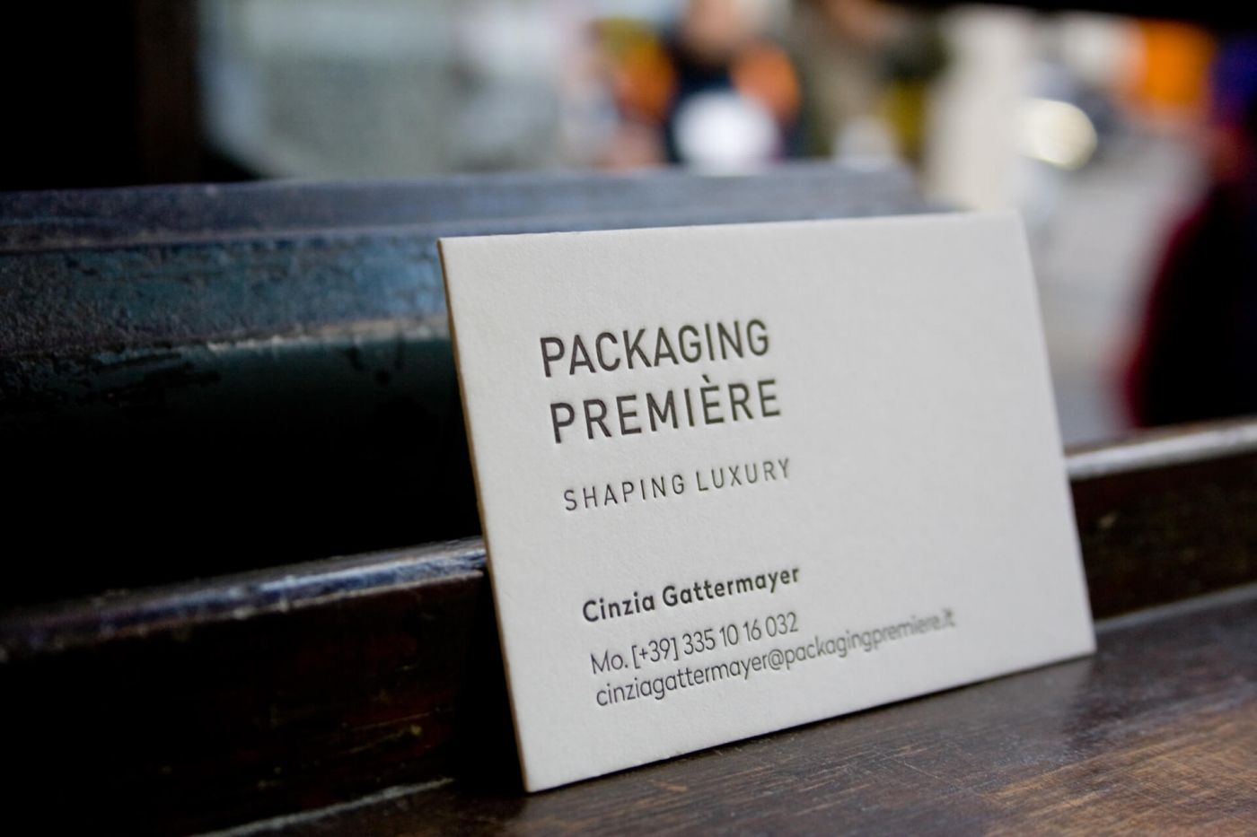 Business card for Packaging Première / by Tipografia Pezzini ...