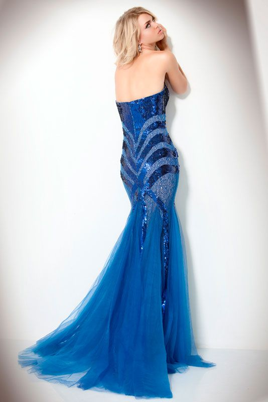17 Best images about Blue Evening Dresses on Pinterest | Chiffon ...