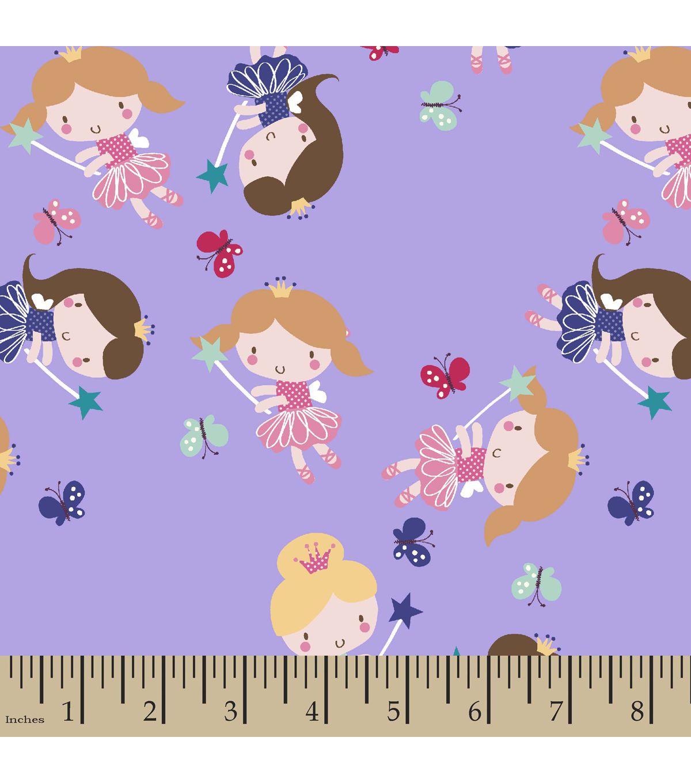 Fairy princess print fabric printing on fabric fabric