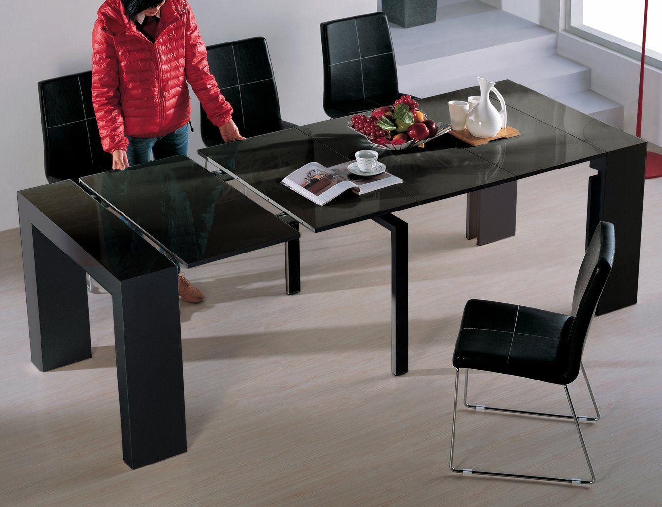 Viva Home H 1003bg Audrey Dining Table Black Gloss Dining Table
