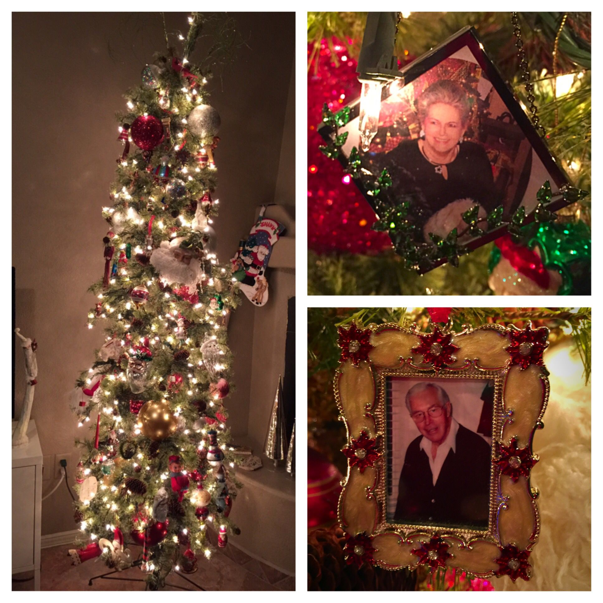 My parents always remain with me in spirit. Also with me at Christmas.