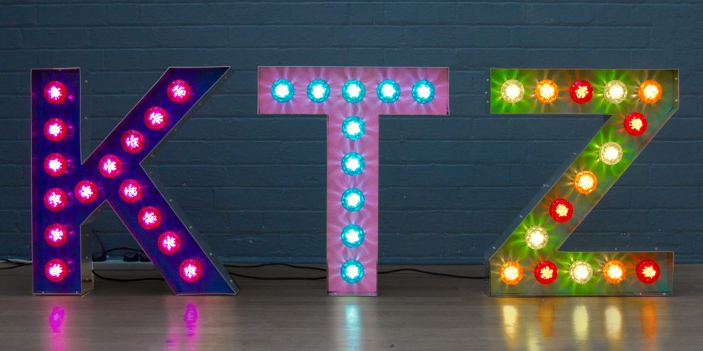 light up letters for kids rooms by Goodwin & Goodwin www ...