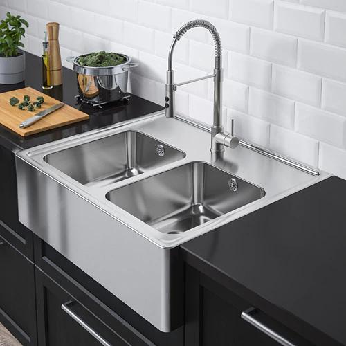 Bredsjon Zlew 2 Kom Z Widocznym Frontem Stal Nierdz Zamow Tutaj Ikea Sink Ceramic Kitchen Sinks Best Kitchen Sinks