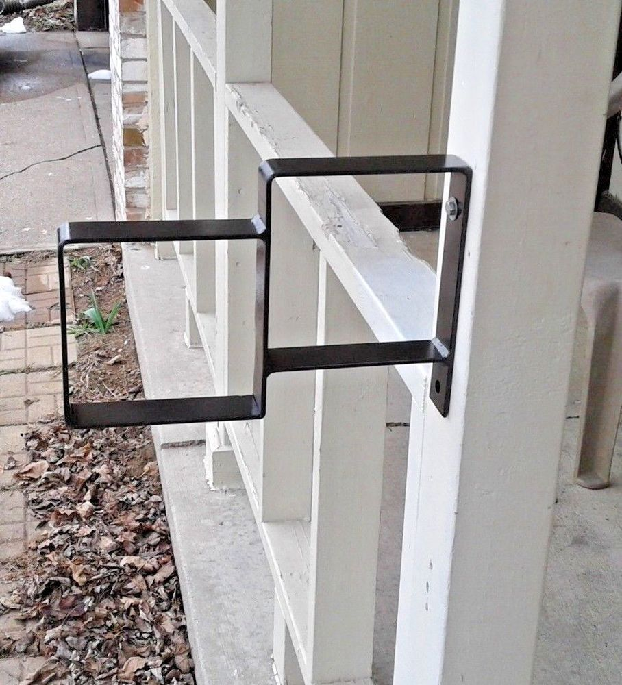 New Small Handrail Wrought Iron 1 2 Steps Steel Grab Rail Single