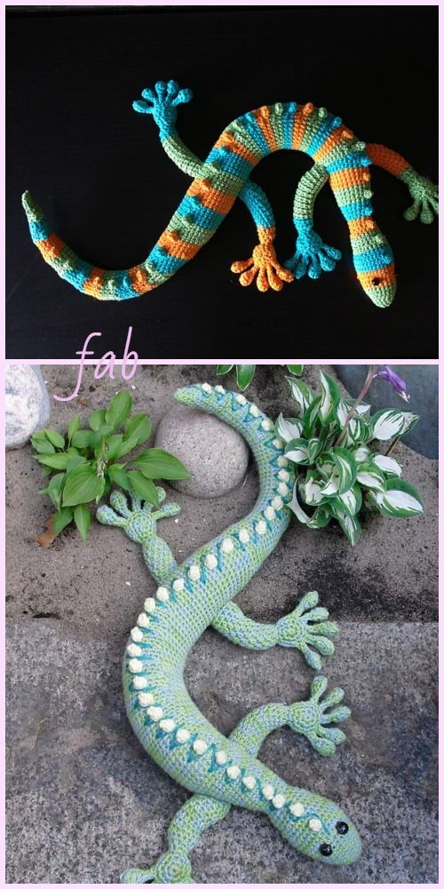 Häkeln Sie Spielzeug Gecko Frecko Eidechse Plüsch Amigurumi kostenlose Muster, #amigurumi #cr...